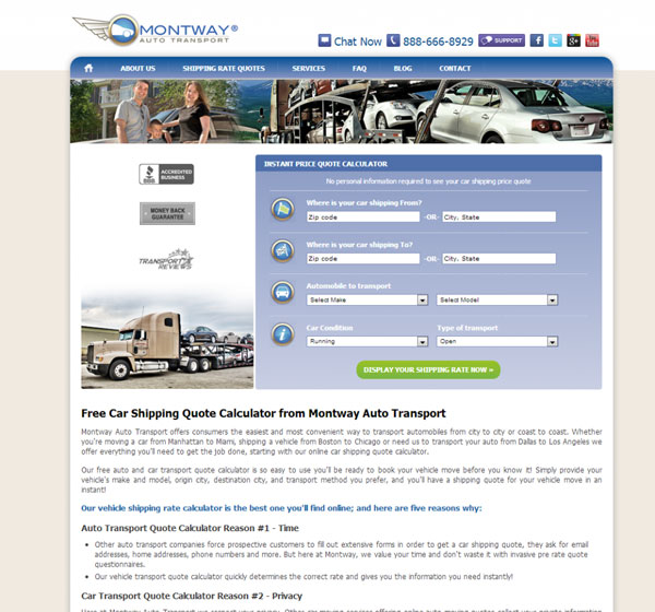 Montway Auto Transport Redesigned Website Is Live Montway Auto Impressive Auto Transport Quote