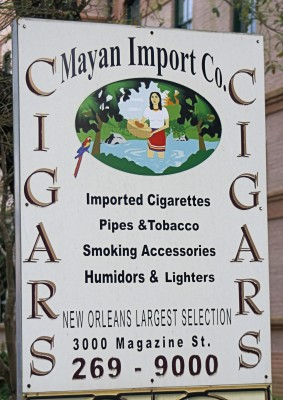 New Orleans Garden District is home to Mayan Impor Co. cigar shop.