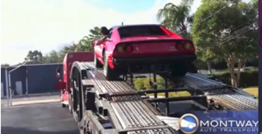 car shipping of ferrari