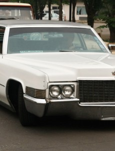 A classic 1970s Cadillac.
