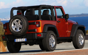 Jeep Wrangler Two-door Top down