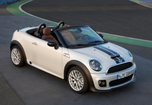 Mini Roadster White Black Stripes