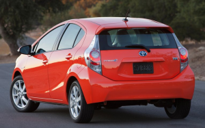 Prius C rear view