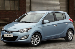 Hyundai i20 front three quarter