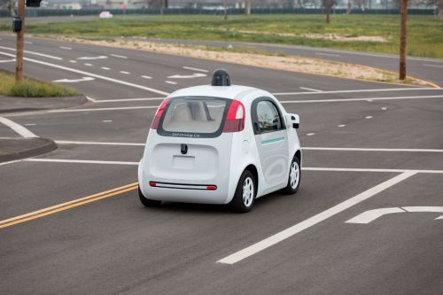 Google's self-driving car is on the streets in California (credit: Google)