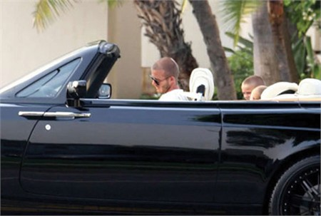 David Beckham takes his sons out for a ride with his Rolls Royce often.