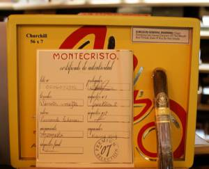 The classy Montecristo is considered a cigar of legend.