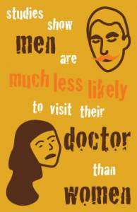 Movember stats: men are much less likely to visit their doctor than women