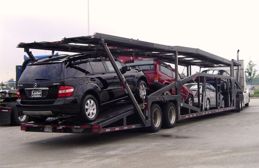 Open auto transport carrier