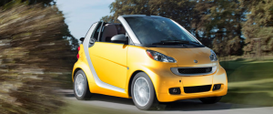 smart fortwo cabriolet yellow