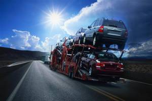 Carrier transporting vehicles across USA